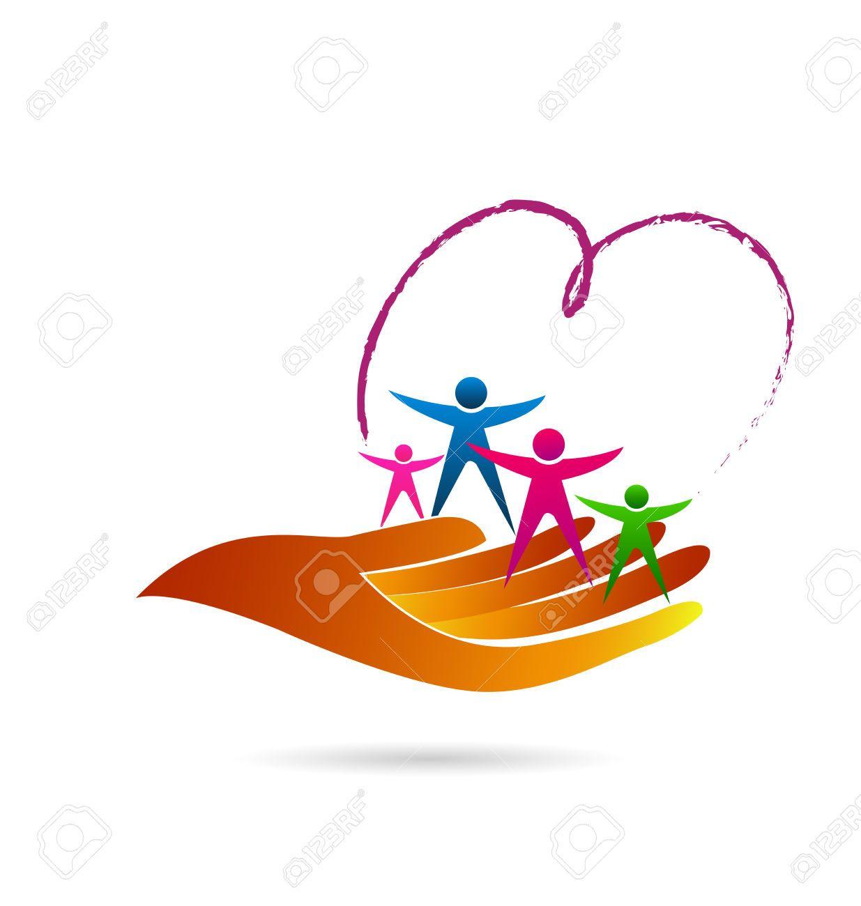 Family Care Symbol Identity Business Card Vector Icon Logo Web ...