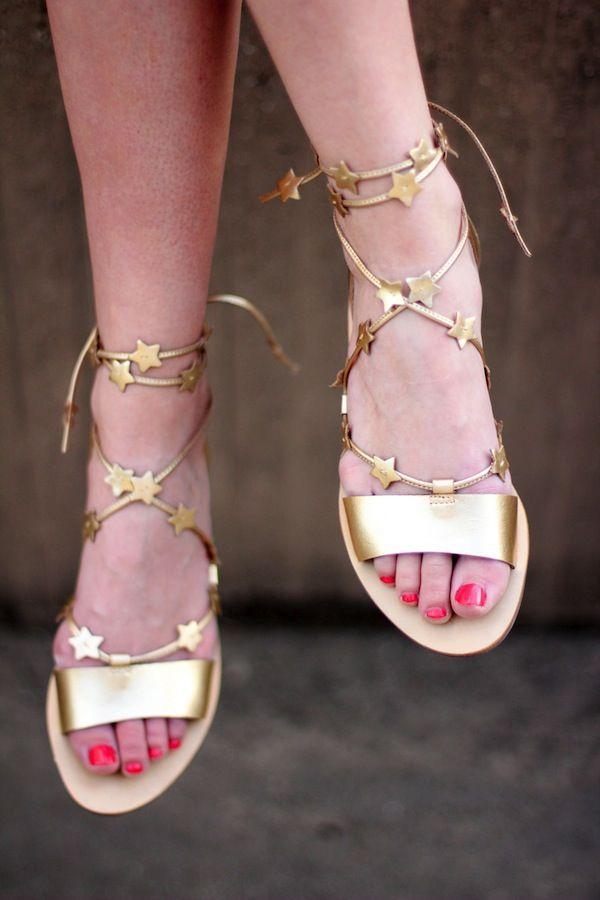Loeffler Randall Starla Leather Ankle Gladiator Sandals iLAIviJCN6