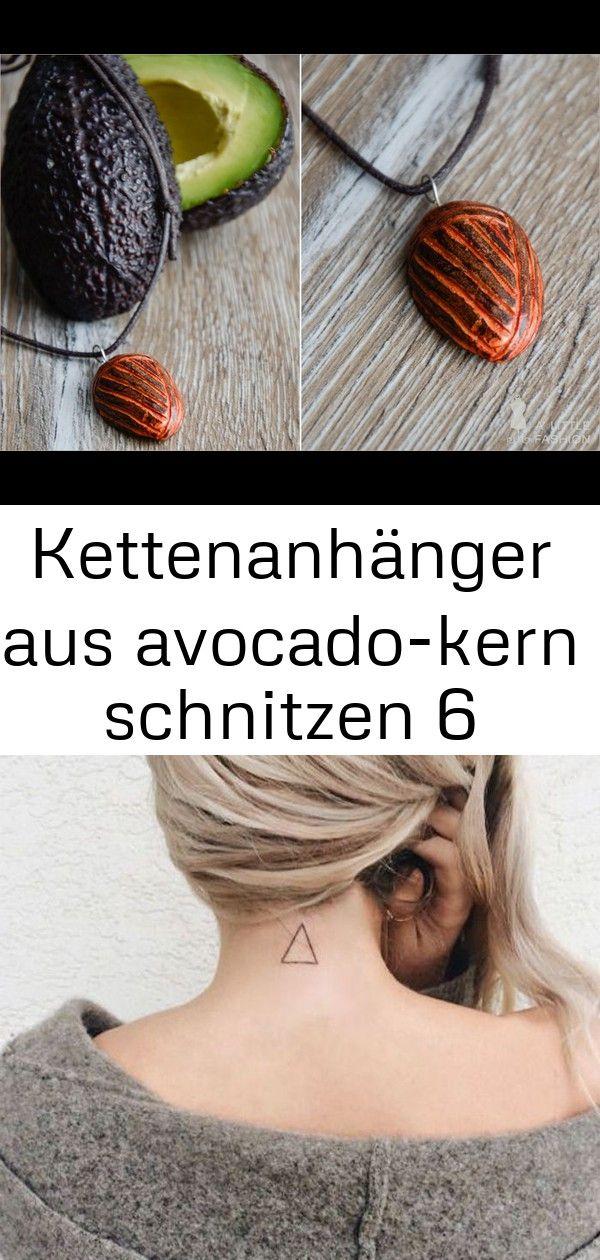 Kettenanhänger aus avocado-kern schnitzen 6 #gartendekoselbermachen