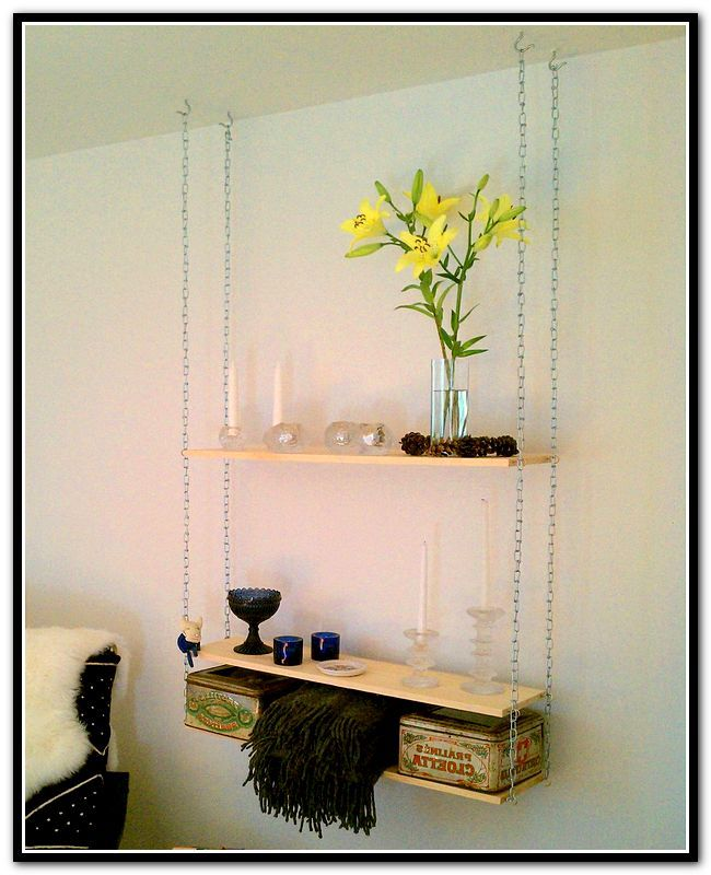 Hanging Shelves From Ceiling With Cable Hanging Shelves Diy