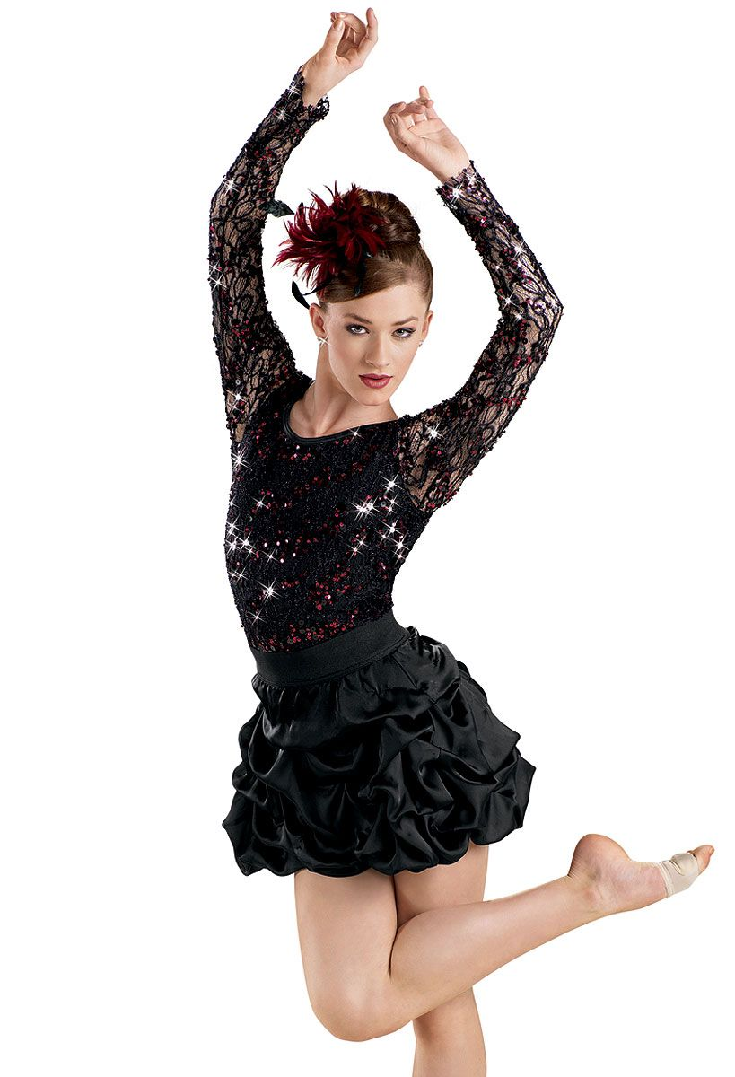 f073040cb Black Dove Long Sleeve Sequin Lace Leotard -Weissman Costumes. Sc 1 St  Pinterest