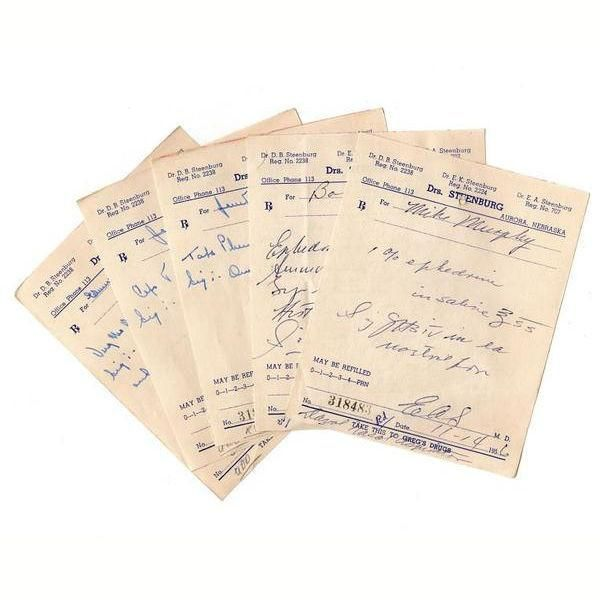 Vintage Handwritten Pharmacy Prescriptions 1950s Lot Of 10 Doctor Scripts Drug Store Ephemera Prescription Medical Prescription Paper Art Projects