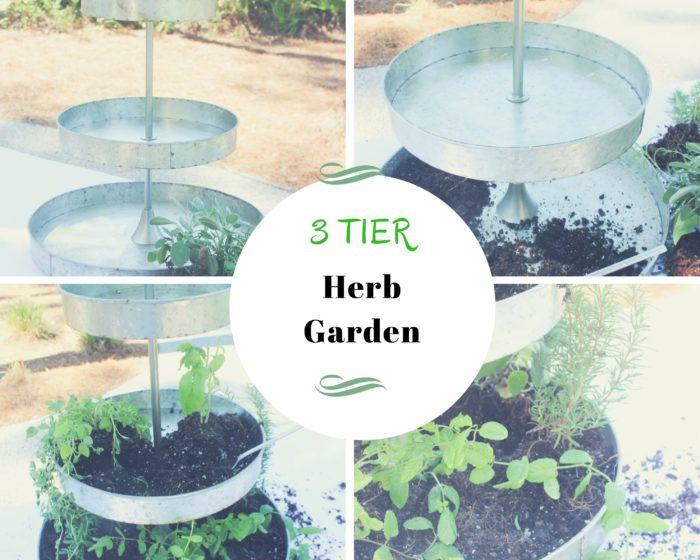 3 Tier Herb Garden Herb Garden Outdoor Gardens Herbs