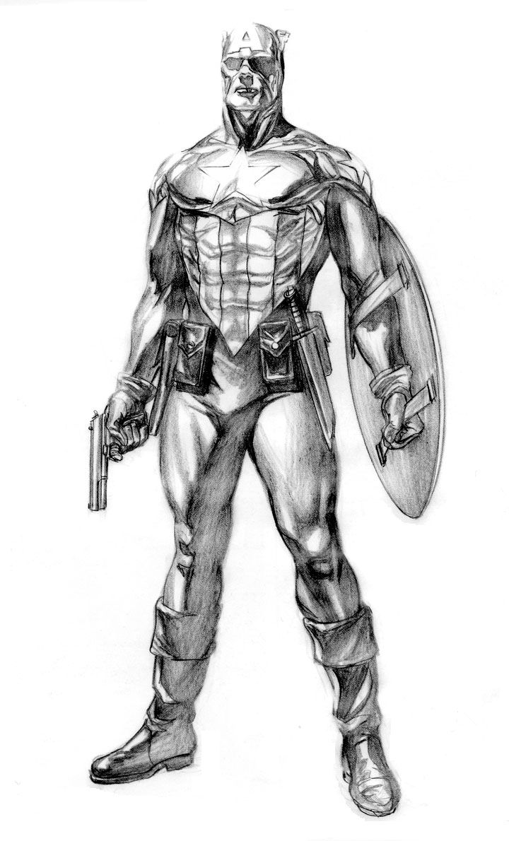 Concept Art For Bucky Barnes Captain America by Alex Ross ...