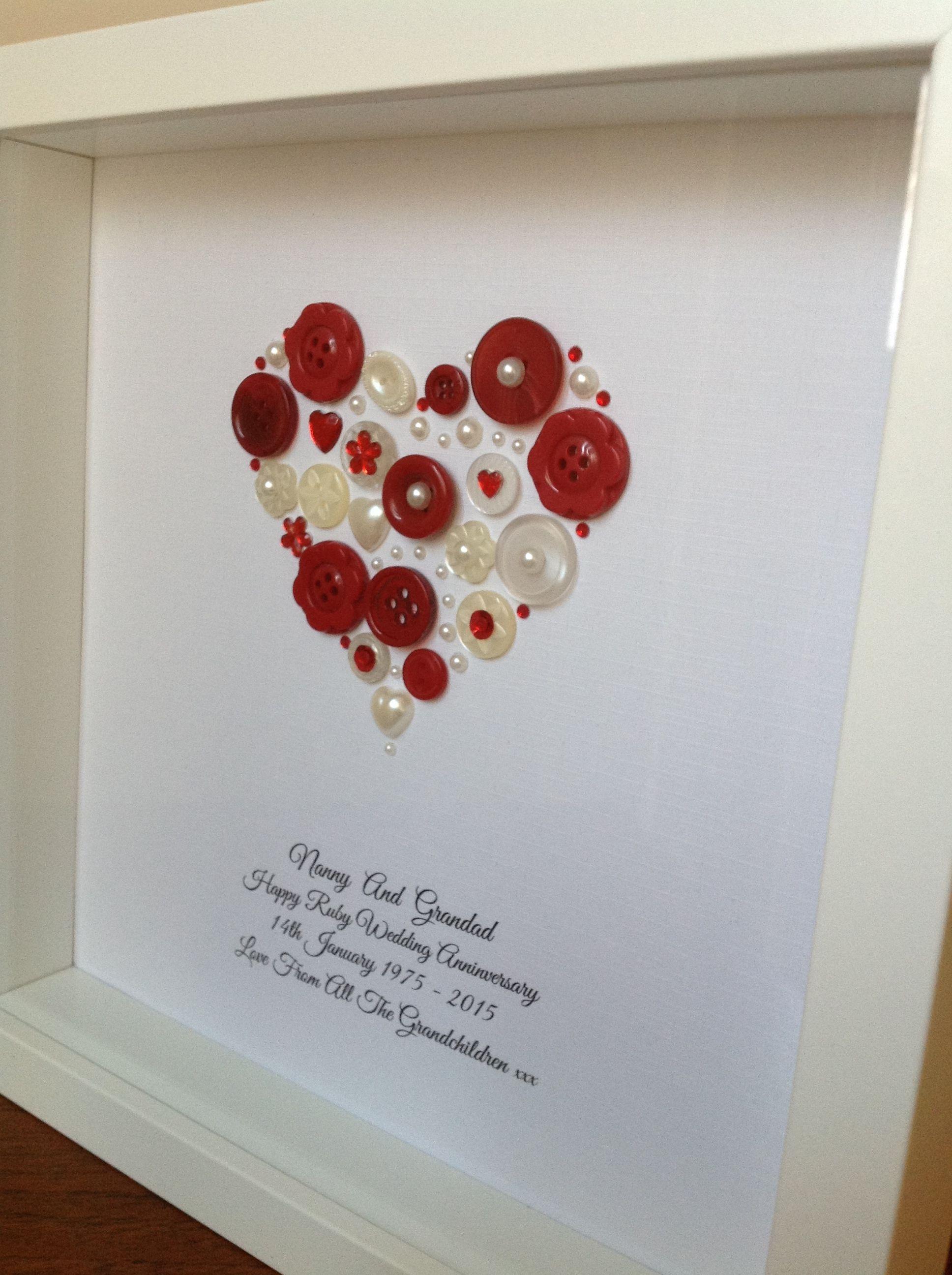 Handmade Ruby Wedding Gift