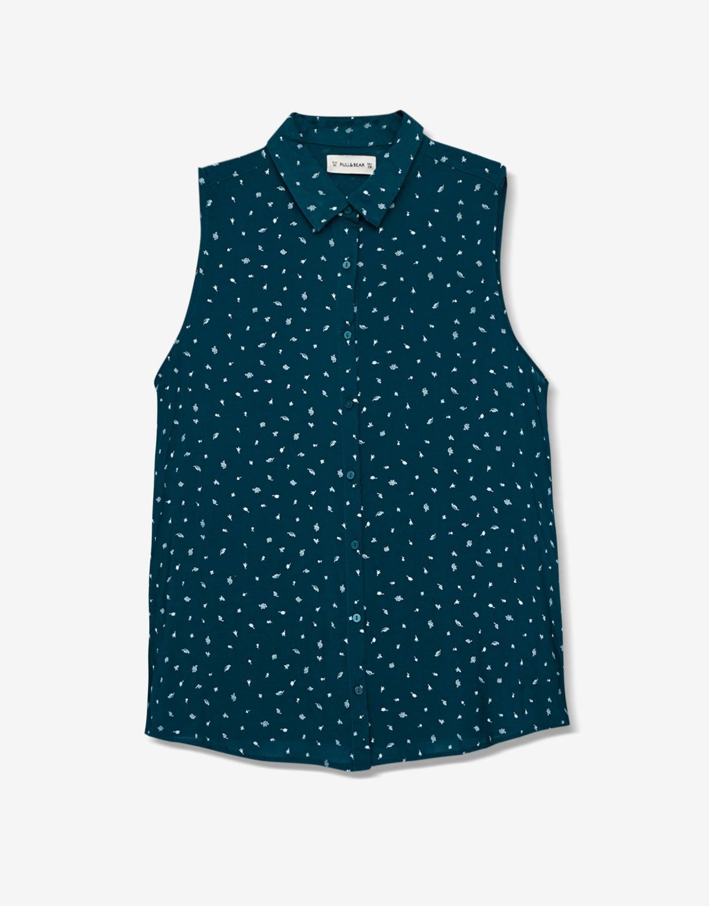 938d4e14ee Camisa estampada manga sisa - Blusas y camisas - Ropa - Mujer - PULL BEAR  México