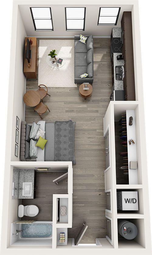Davis Studio Studio Apartment Floor Plans Apartment Layout Studio Apartment Decorating