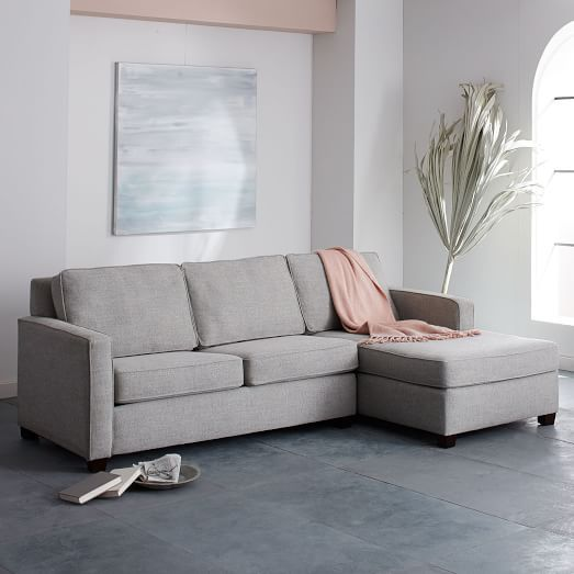 Henryu0026#174; 2 Piece Chaise Sectional   Gravel (Twill)