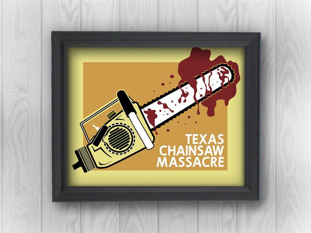 Texas Chainsaw Massacre Leatherface bloody movies | Minimalist Pop ...