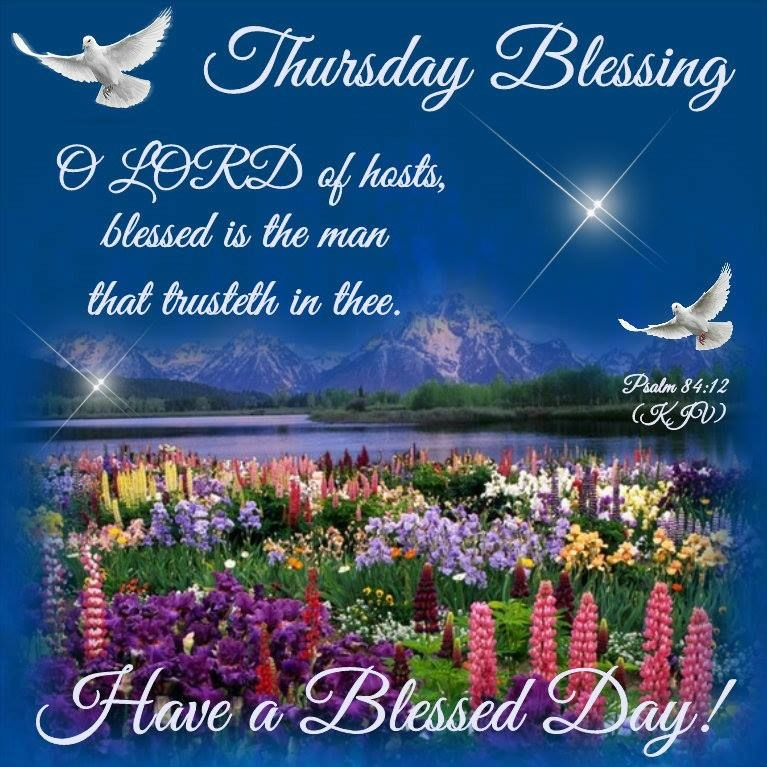 Thursday Blessingpsalm 8412 Have A Blessed Day Days Of The