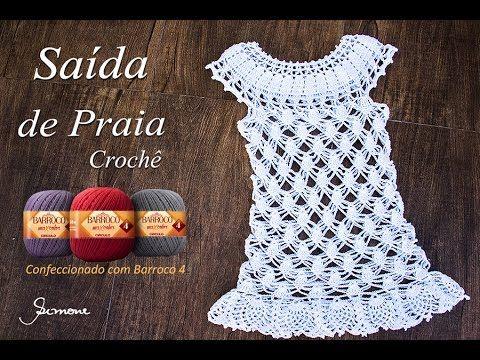 e648a2966376 Saída de Praia em Crochê   Moda Praia   Parte1   Simone Eleotério ...