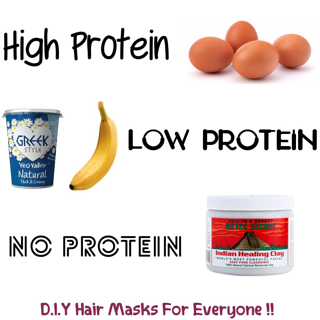 High Protein Low Protein No Protein Diy Hair Masks Hair Mask Diy Hair Masks Low Protein Hair
