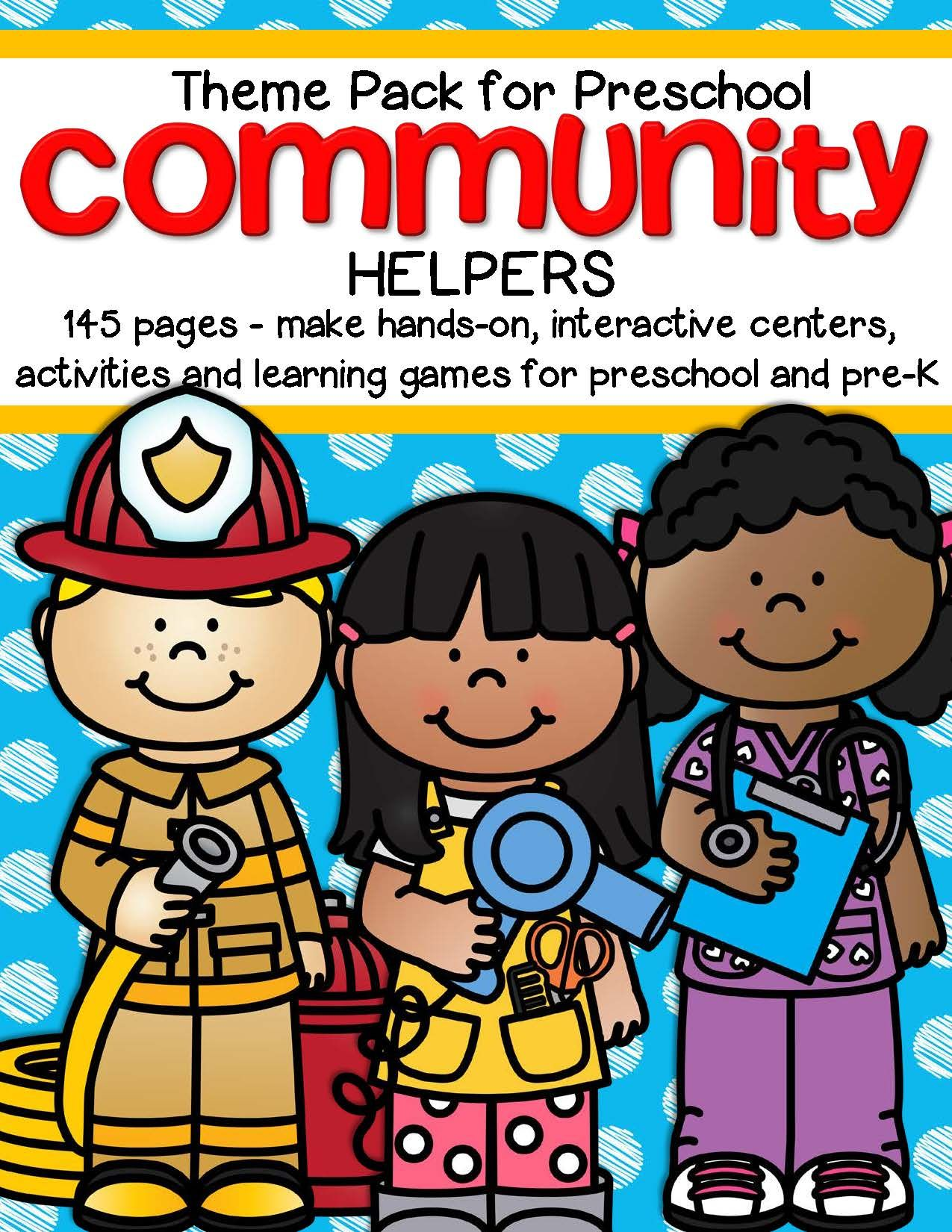 Community Helpers Theme Unit Centers And Activities For