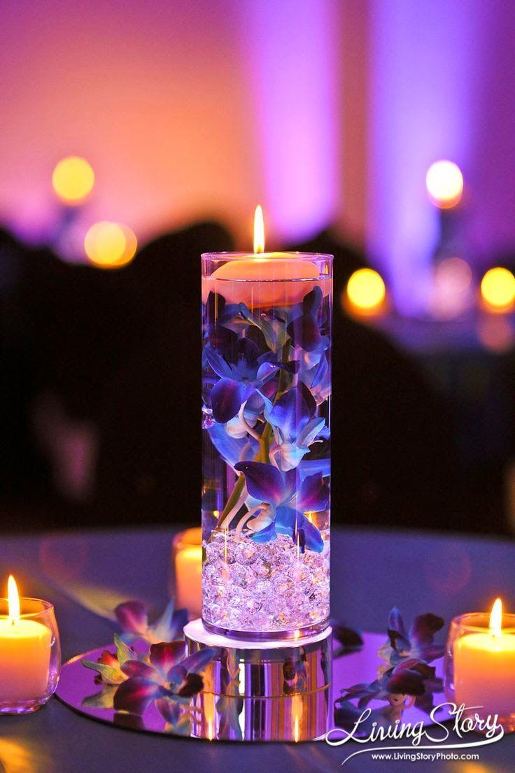 centros de mesa para bodas con velas flotantes ideas para