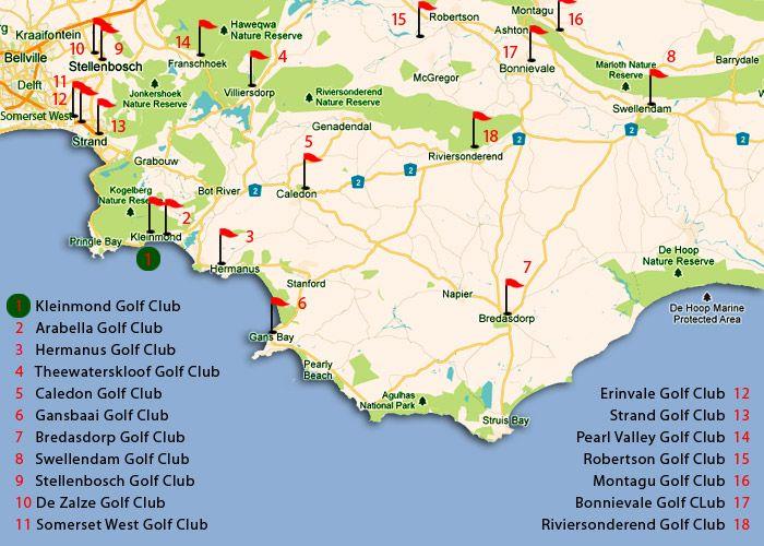 Kleinmond Golf Club   map to show proximity of other golf courses