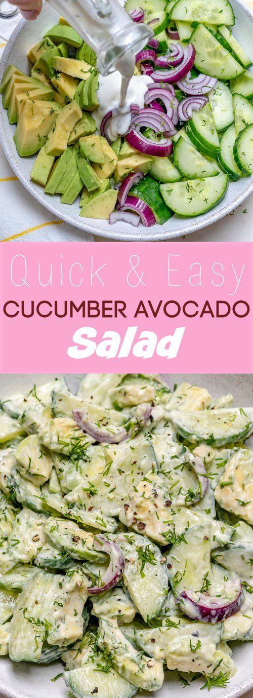 Quick & Easy Cucumber Avocado Salad images
