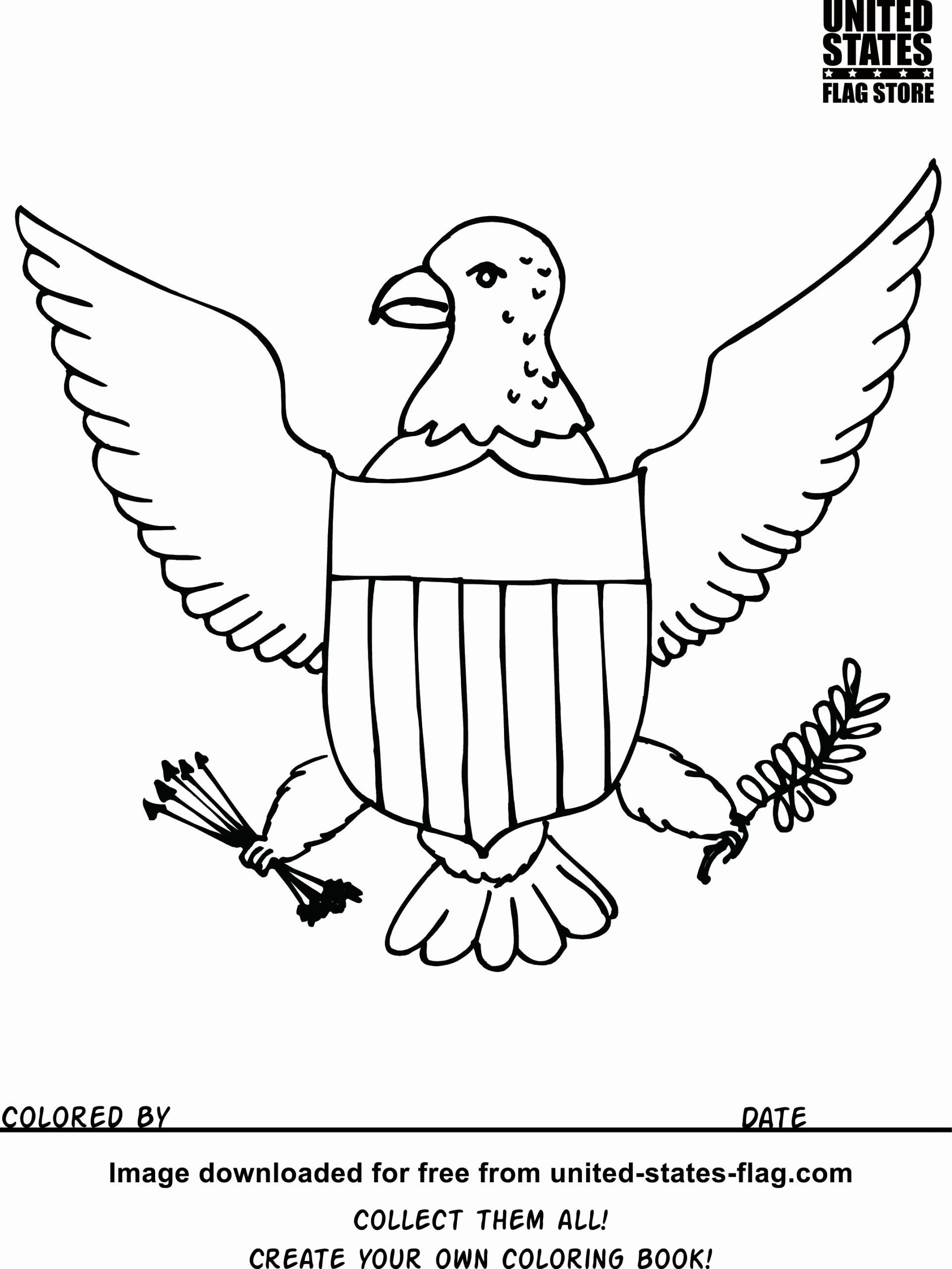 United States Flag Coloring Sheets In