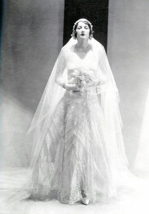 Vintage Dres Chanel 1930 Wedding Attire In 2019