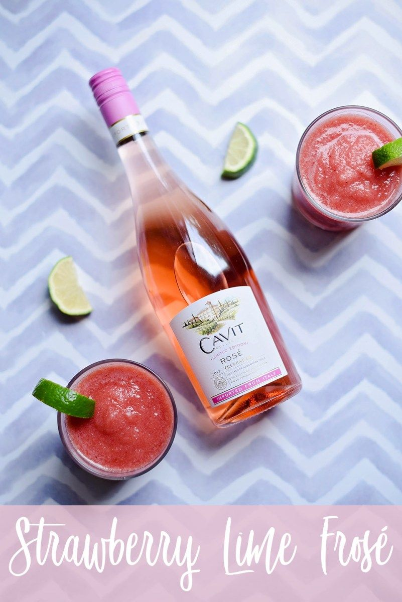 Strawberry Lime Frose Frozen Rose Recipe Strawberry Lime Strawberry Drinks Frozen Rose