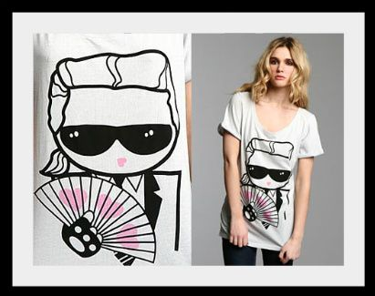 Karl Lagerfeld T-shirt from Urban Outfitters
