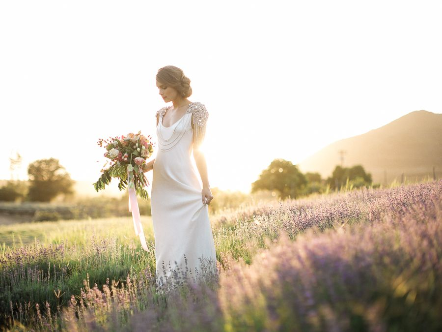 lilac wedding decorations gorgeous styled bridal session in a lavender field 5540