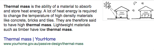 Thermal Mass Thermal Mass Passive Design Heat Energy