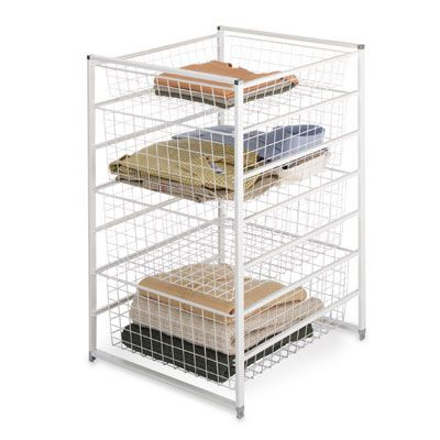 Elfa Drawer Unit Mesh Drawers Storage With Hanging File Folder Organizer Also Clothes Basket