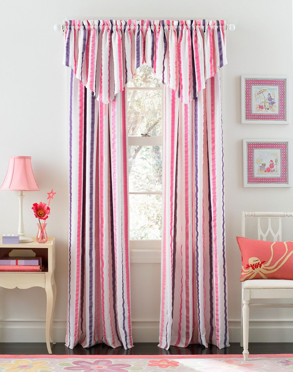 Beautiful Curtains For Girls Bedroom Decoration : Appealing Pink ...