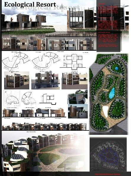 ecological resort student project architecture design my work
