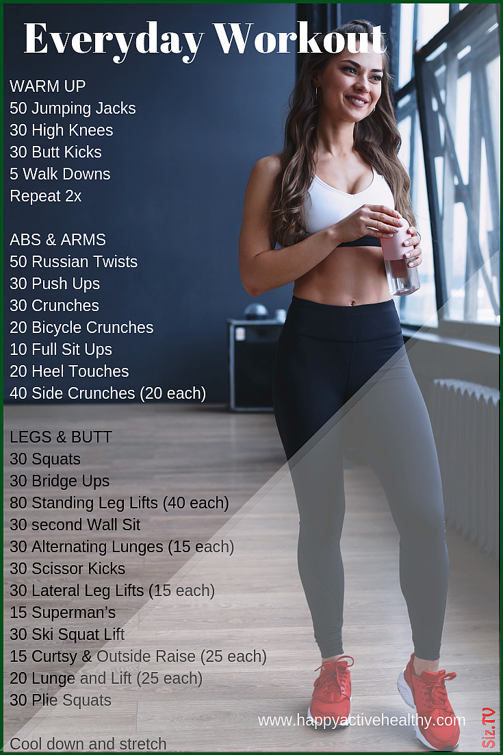 Get a full body workout at home These are perfect 30 day fitness challenges For women and men even i...