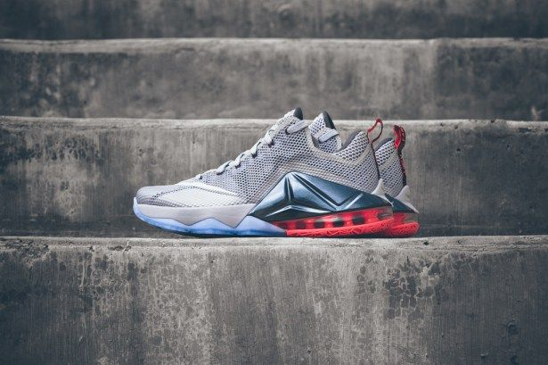 26217d83b6c A Closer Look at the Nike LeBron 12 Low Wolf Grey White-Dark Grey ...