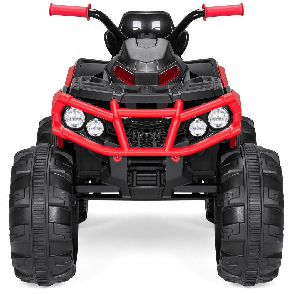 12v Led Quad Kids Ride On 4 Wheeler Atv Quad 12v Electric Battery Sporty 3 7mph