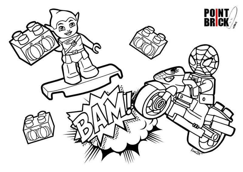 Lego Spiderman Goblin Coloring Pages