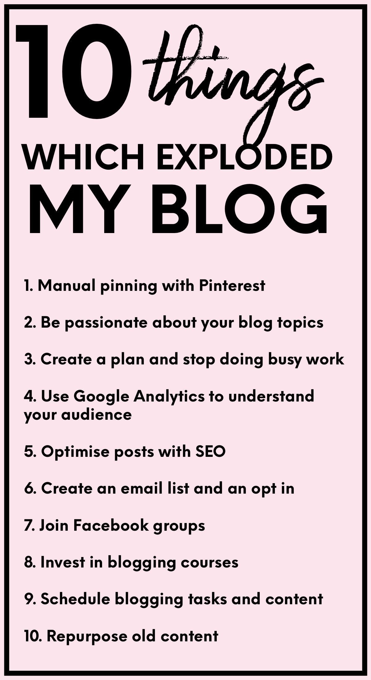 Easy steps for your Blog #bloggonh Great list showing ways to expand your blogging presence online. #bloggonh