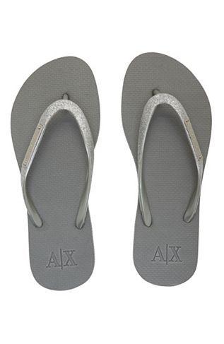 a041e85fb23091 Logo Plate Flip Flop - Stock Up   Save - Womens - Armani Exchange ...