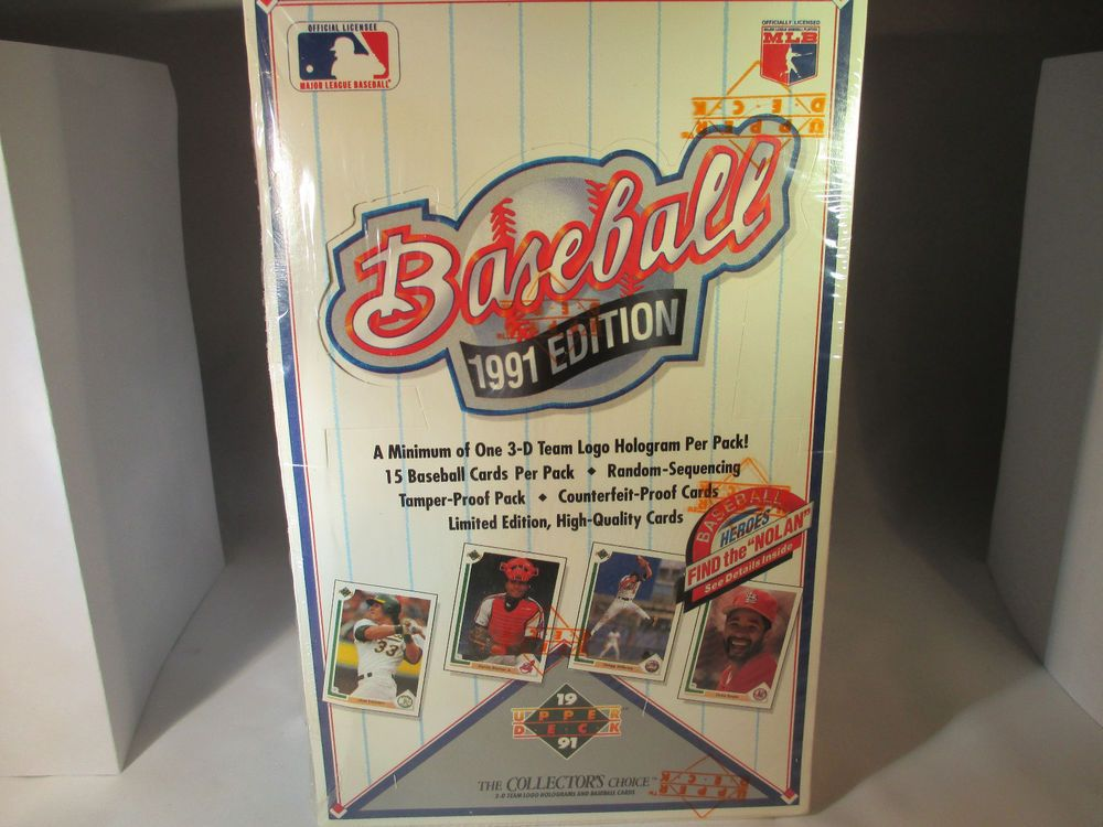 1991 upper deck baseball cards unopened box nolan ryan
