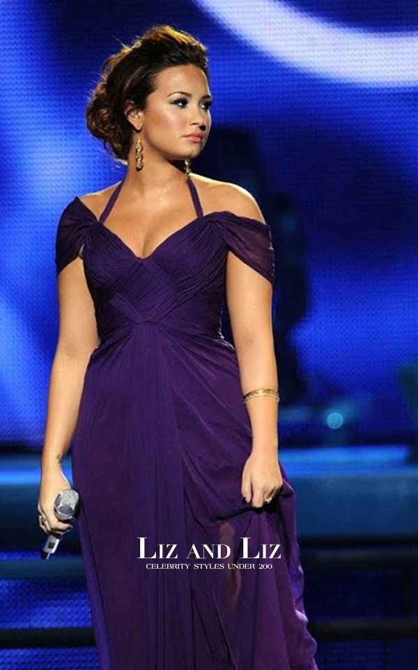 Demi Lovato Purple Prom Dress 2017 Latin Grammy Award Red Carpet 2 ...
