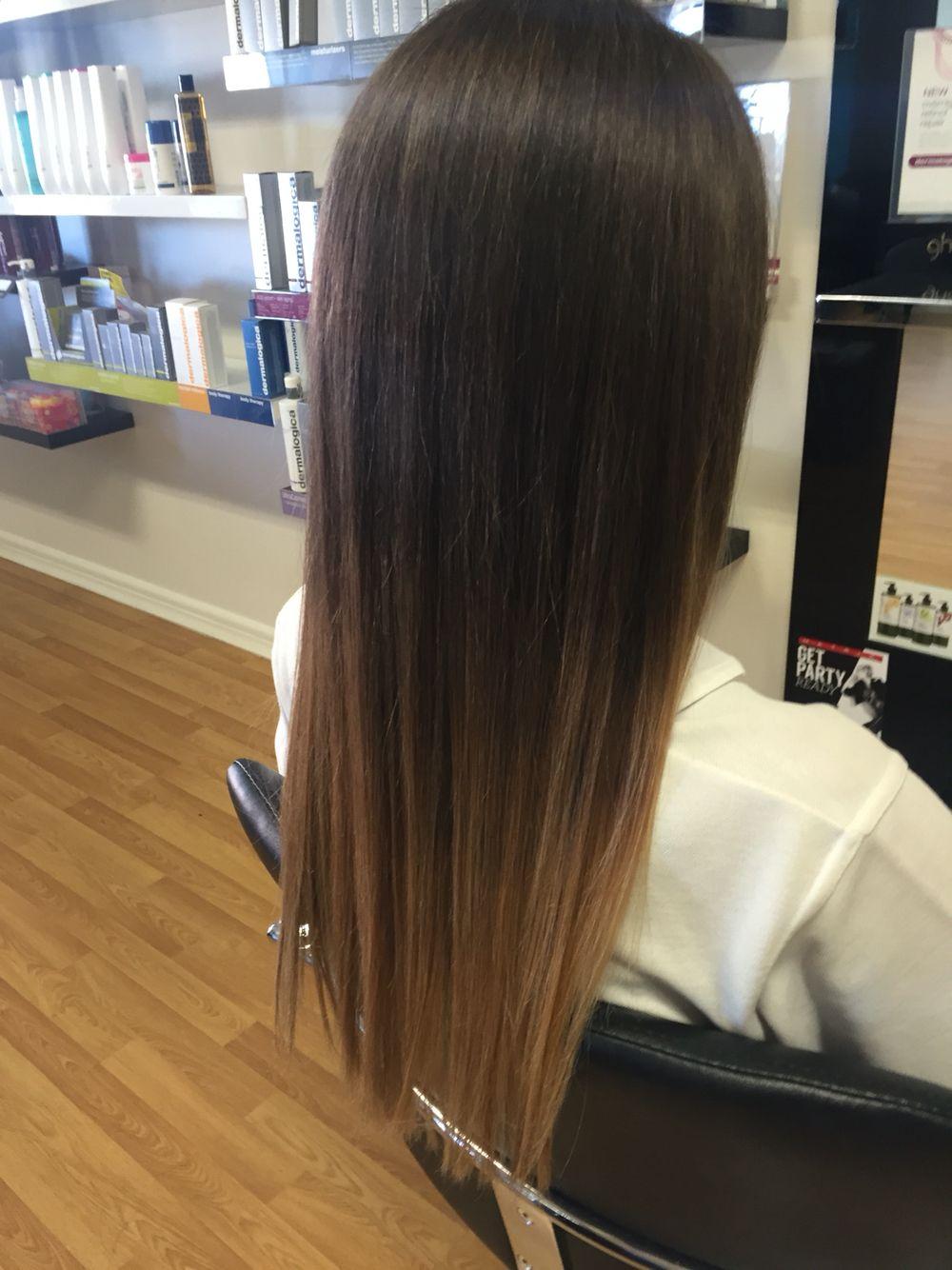 Subtle Ombre Hair Dye Tips Brown Ombre Hair Black Hair Balayage