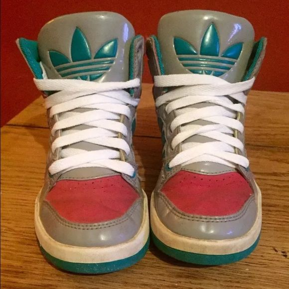 Girls Adidas High Top Shoes - Size 1!