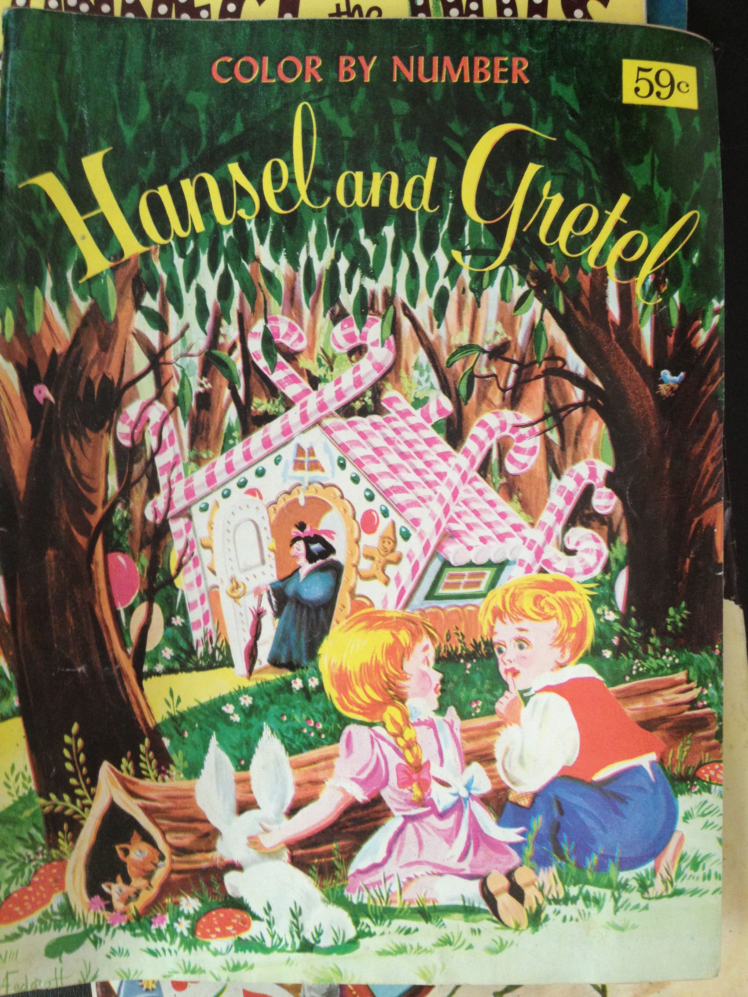 Another Vintage Childrens Coloring Book Cover Hansel Gretel Originally 59 Cents