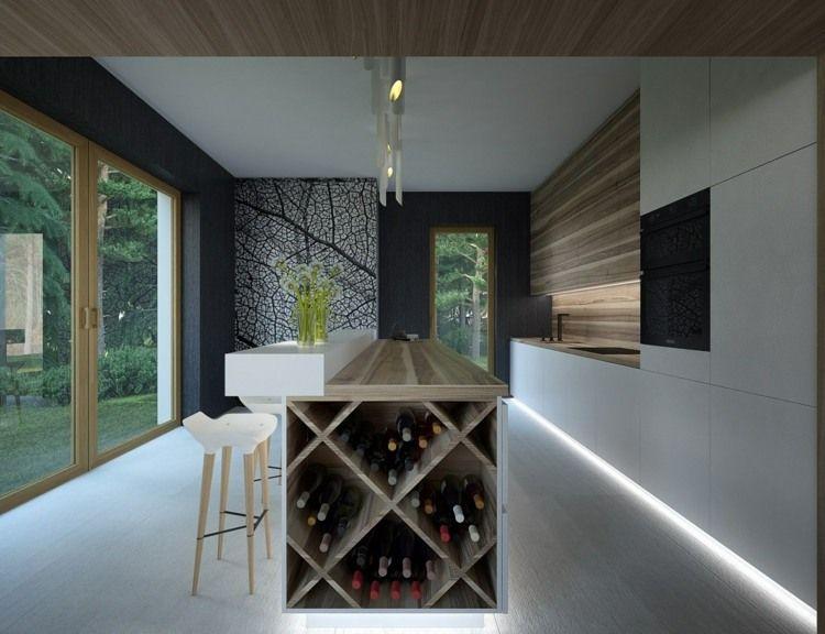 weinregal in der küche - modernes design mit kreuzform | interior, Kuchen ideen