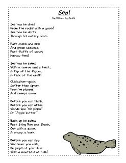 A Harbor Seal Pup Grows Up U2w2 Poem And Activity Seal Pup Seal