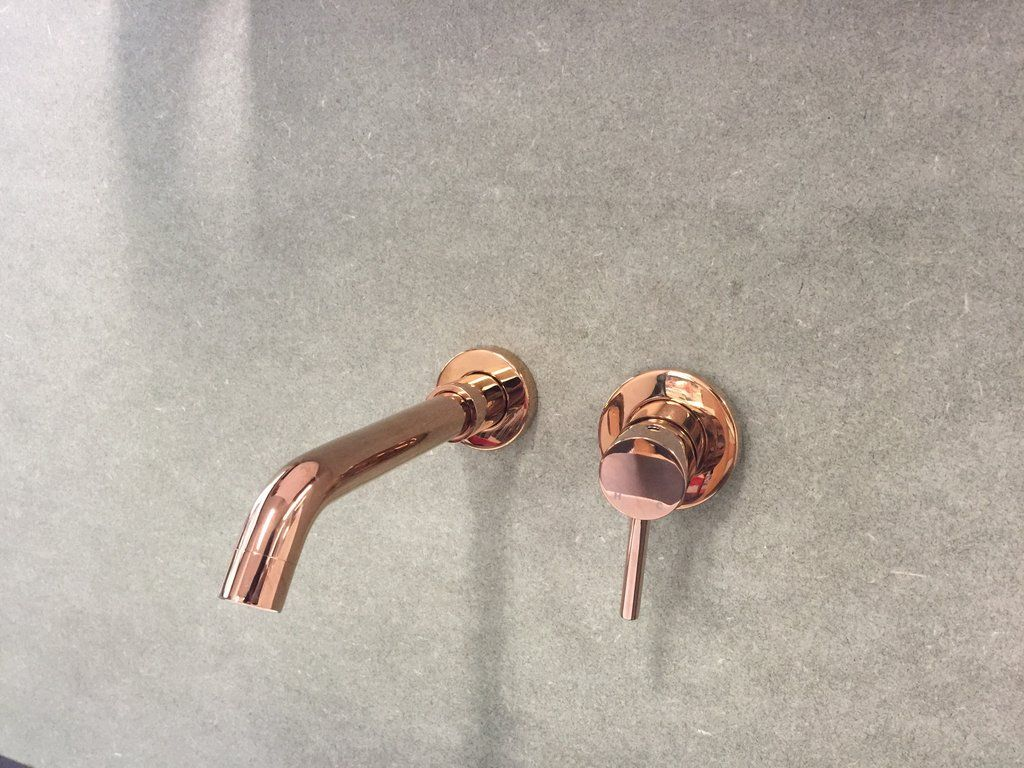 Rose Gold Stainless Steel Matte Black Wall Mixer Set Tap