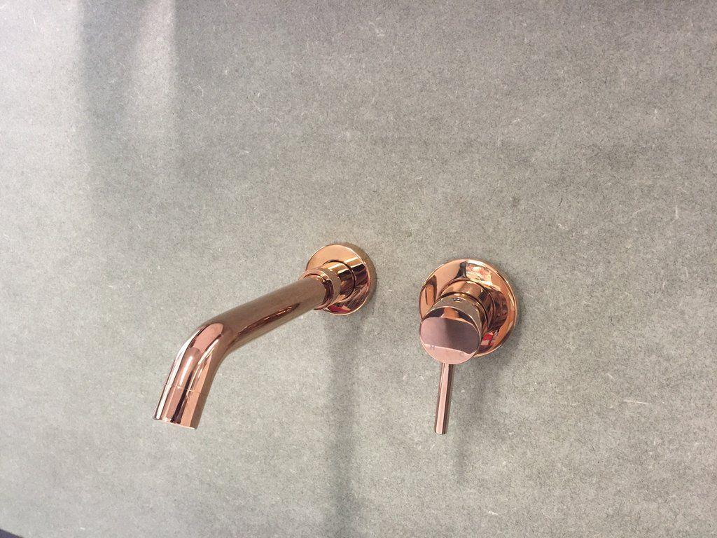 Rose Gold/Stainless Steel/Matte Black Wall Mixer Set Tap