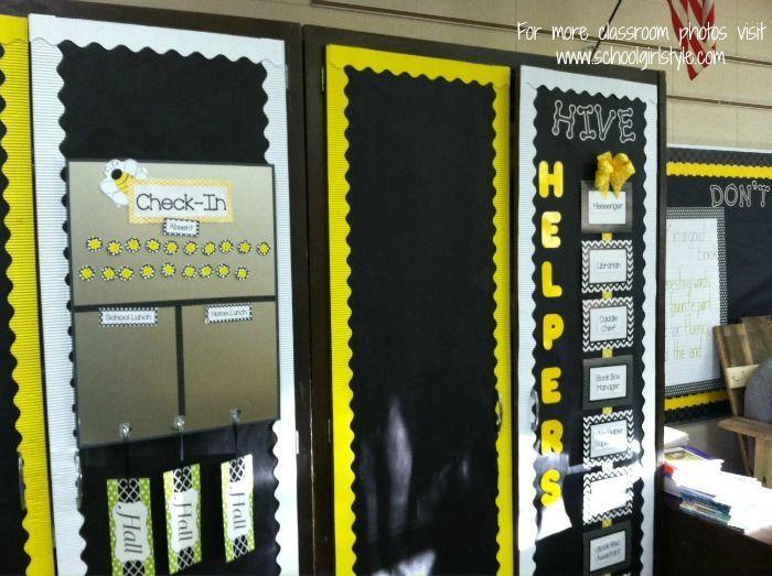 Yellow Classroom Decor : Polka dot classroom tour bees pinterest polka dot classroom