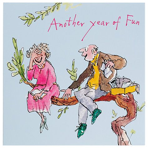 Buy Woodmansterne Another Year Of Fun Anniversary Card John Lewis Fun Anniversary Cards Happy Anniversary Quentin Blake Illustrations