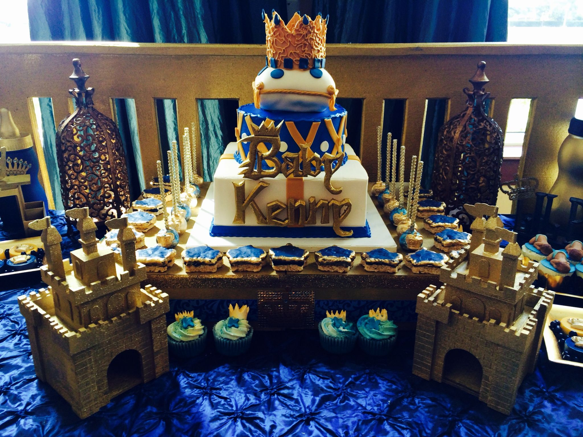 Royal Baby Showers Royal Prince Cake Topped With A Gold