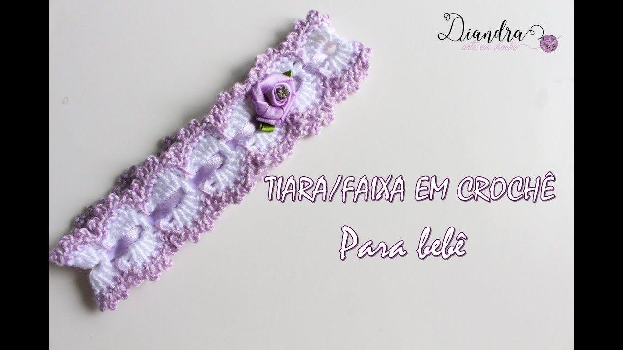 Tiara/Faixa para Bebê em Crochê Fofura | vestidos nena | Pinterest ...