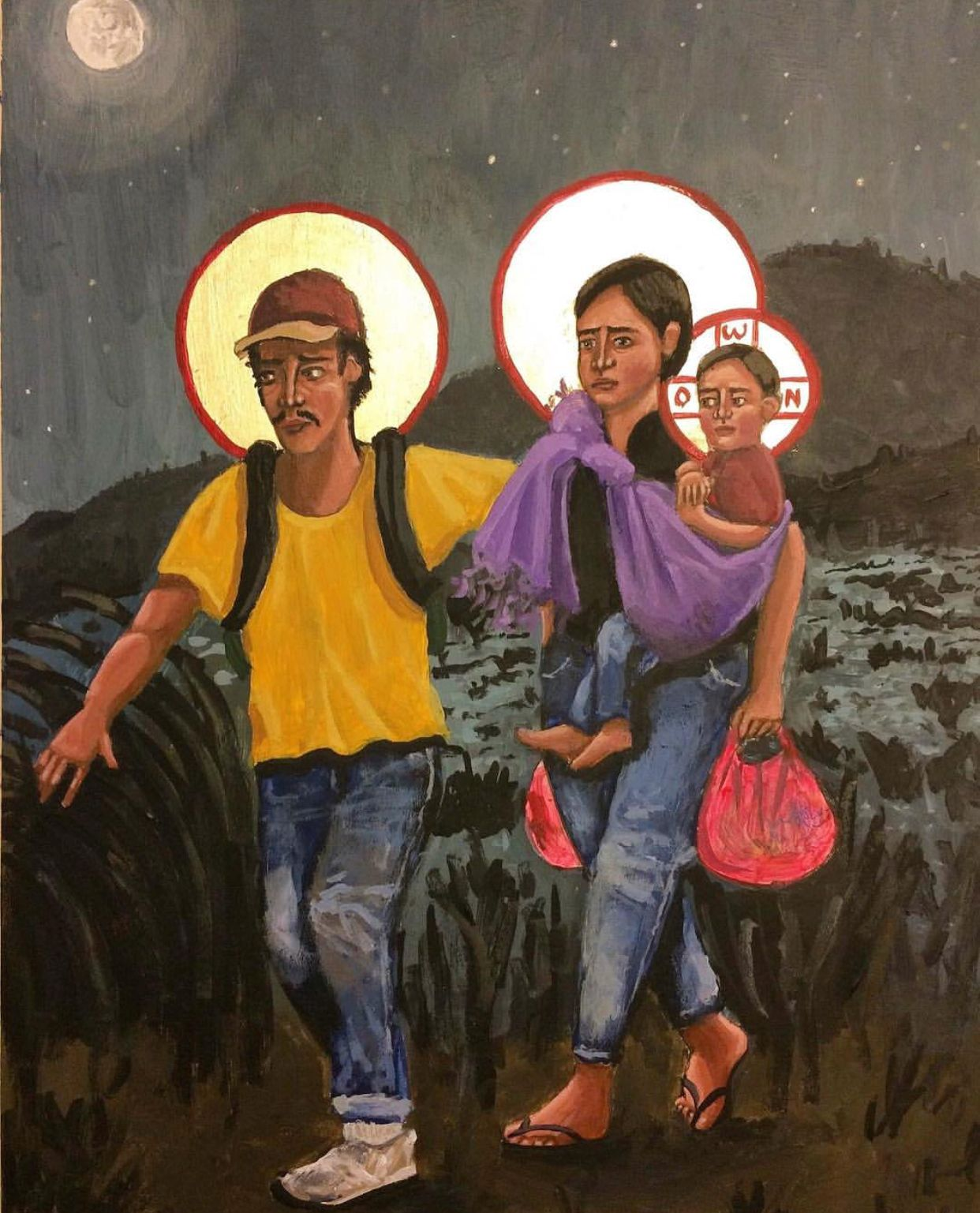 Image result for holy family ice detention art card