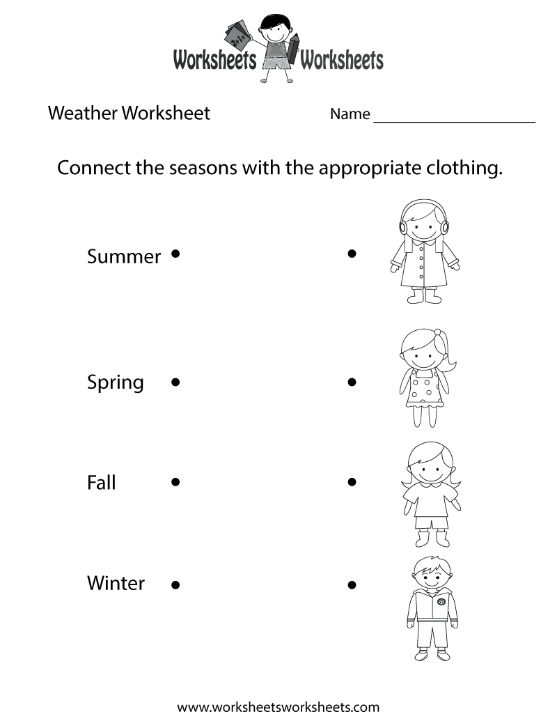 Fun Weather Worksheet Printable Study Material Pinterest